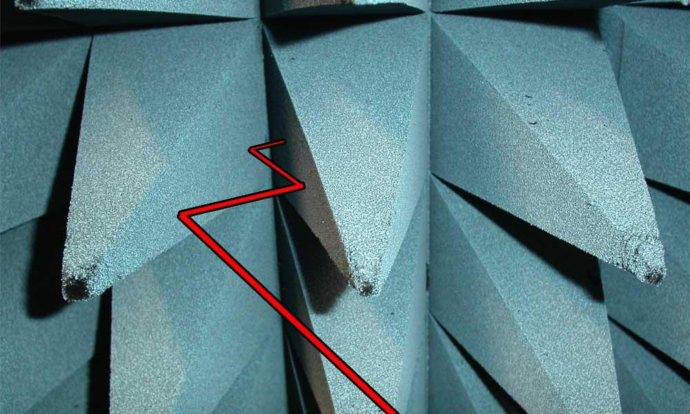 تساعد التضاريس الدقيقة ضمن الطبقة الخارجية للطائرة في امتصاص أمواج الرادار بدل عكسها