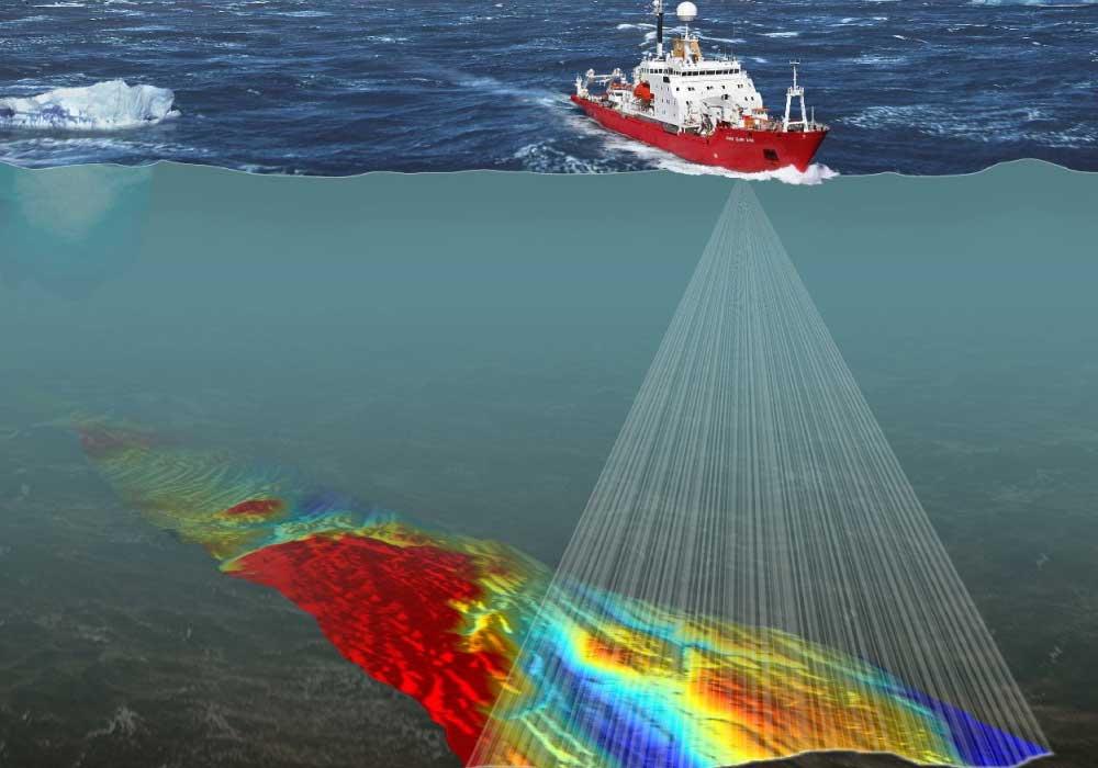 استخدام السونار في رسم خرائط قاع البحر