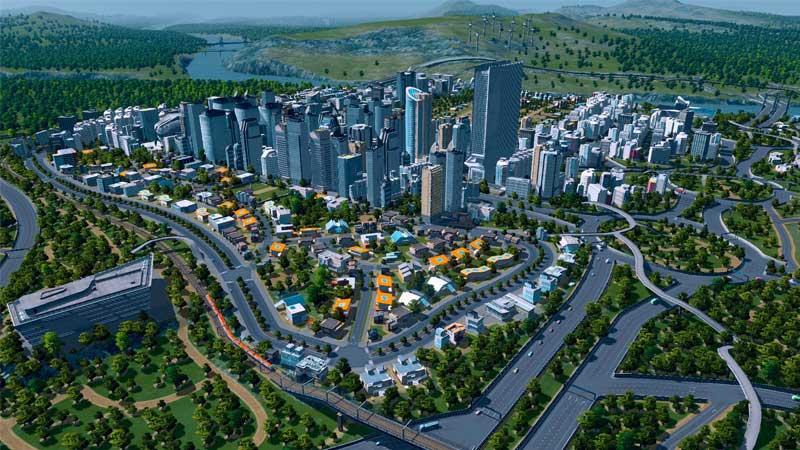 لعبة محاكاة بناء المدن Cities: Skylines