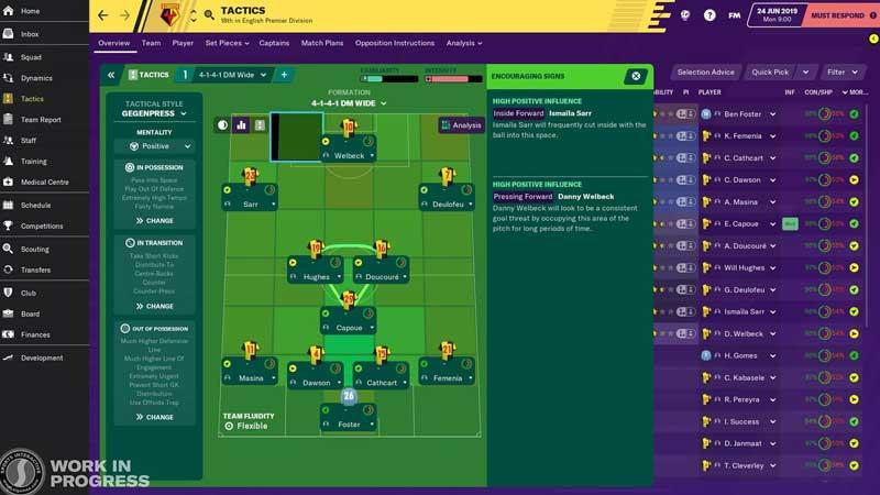 لعبة محاكاة كرة القدم Football Manager 2020