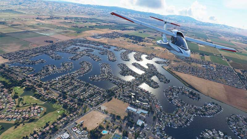 لعبة محاكاة الطيران Microsoft Flight Simulator