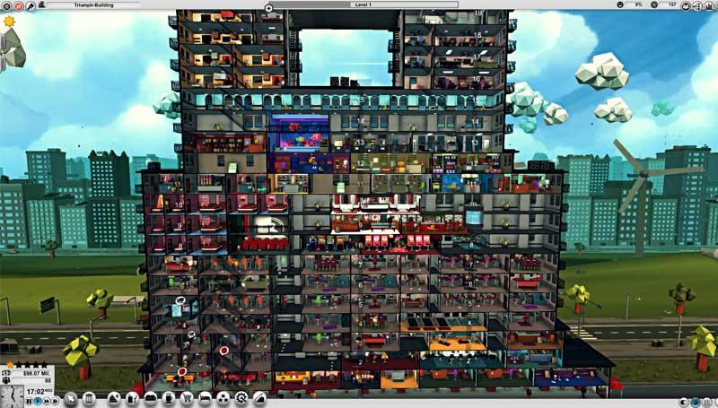 لعبة محاكاة إدارة الأبراج Mad Tower Tycoon