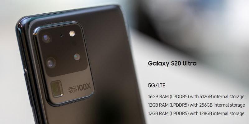 هاتف سامسونج جالكسي إس 20 ألترا Samsung Galaxy S20 Ultra