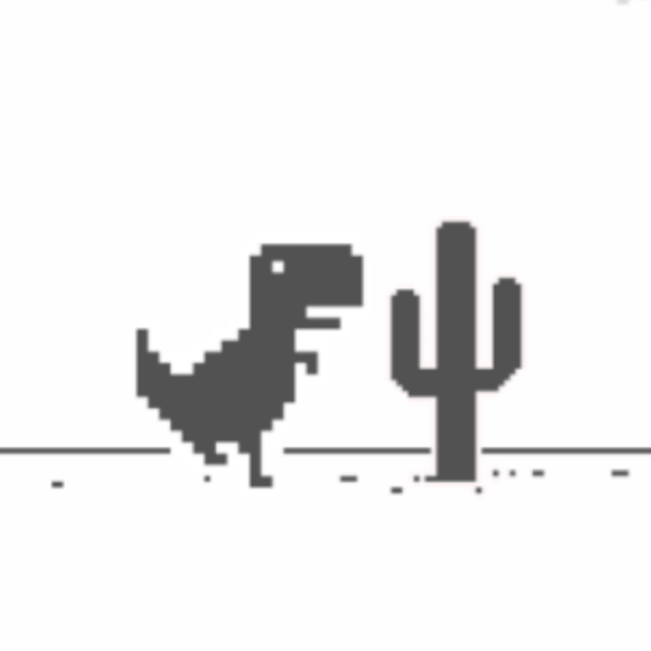 ديناصور كروم - لا يوجد إنترنت