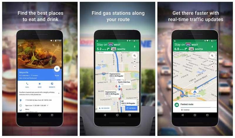 برنامج الخرائط Google Maps