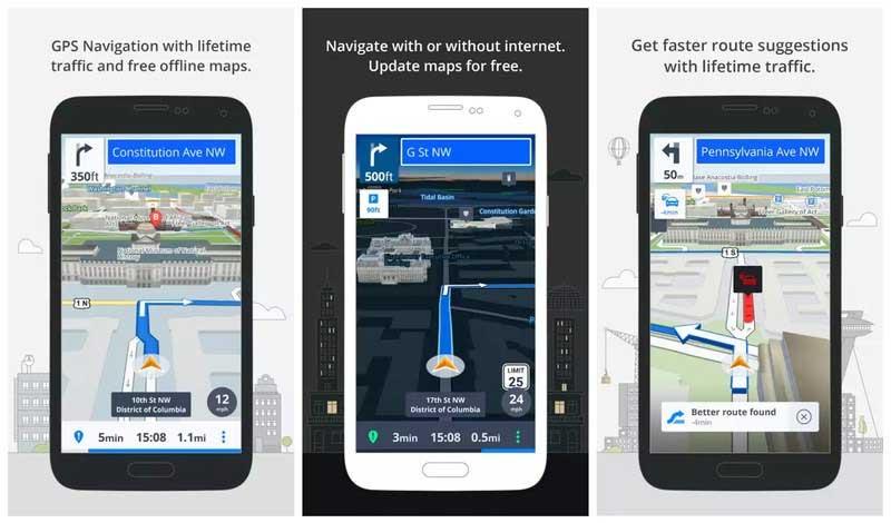 برنامج الخرائط Sygic GPS Navigation