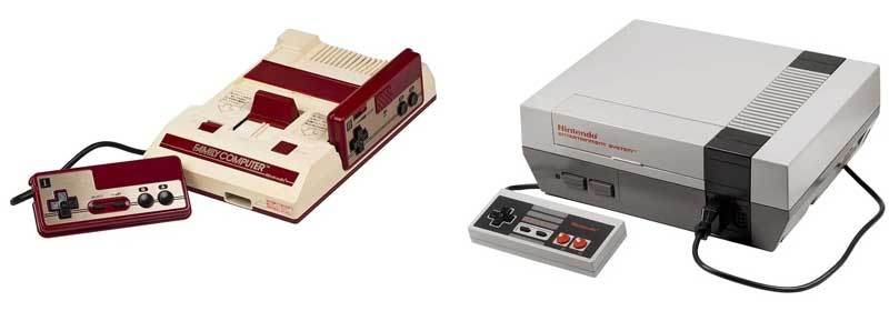 مشغل ألعاب Nintendo Entertainment System أو Famicom