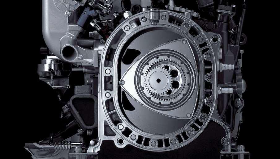 محرك سيارة Mazda RX-8 الذي يستخدم دارة فانكل.